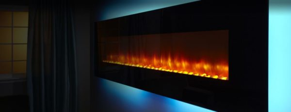 Wall-Mount Fireplace, Image of SimpliFire Wall-Mount Series