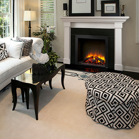 Electric Fireplace in home setting